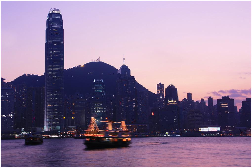 香港·日暮时分的维多利亚港
