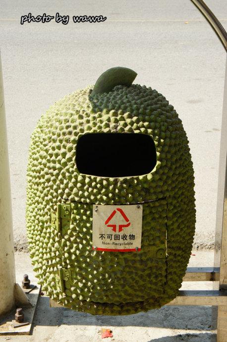 萝蜜形状的垃圾桶