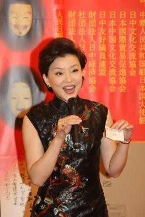 杨澜一袭旗袍亮丽东京 欢乐春节