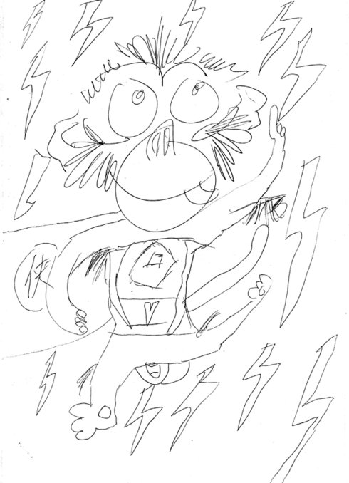 猴头最简单简笔画步骤