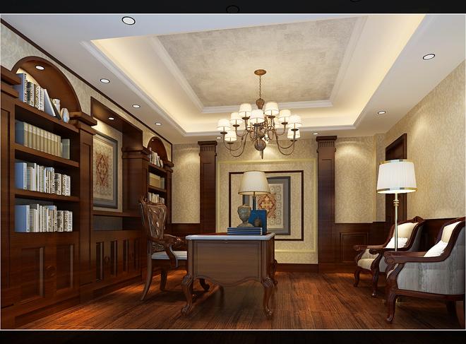 保利香槟国际欧式古典别墅装修设计【龙发装饰】
