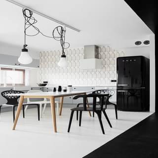 黑白46平米现代经典一居室