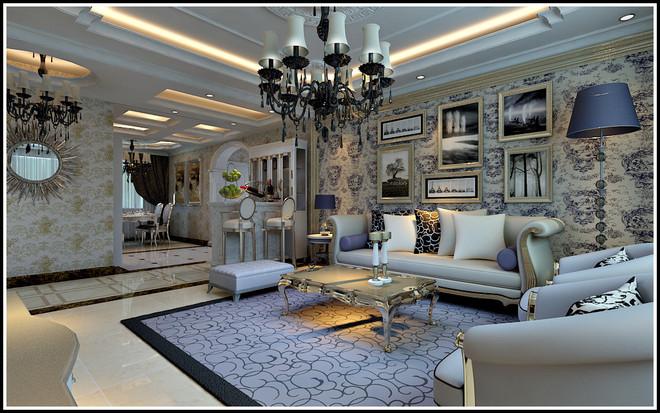 房主要求高贵大气,表现高贵手法不能一如既往欧式的俗气,整体空间运用带微晶石,现代欧式的家具,极具北欧风格中的白,家具与后期运用的镜片及微晶石相融合彰显大气格调,电视背景墙的隐形门制作完全掩盖电视背景墙上有门口的缺陷,中期施工过程中由于房主选择家具风格与原设计略有差异,其中少部分造型做出微调,以至效果达到最佳!