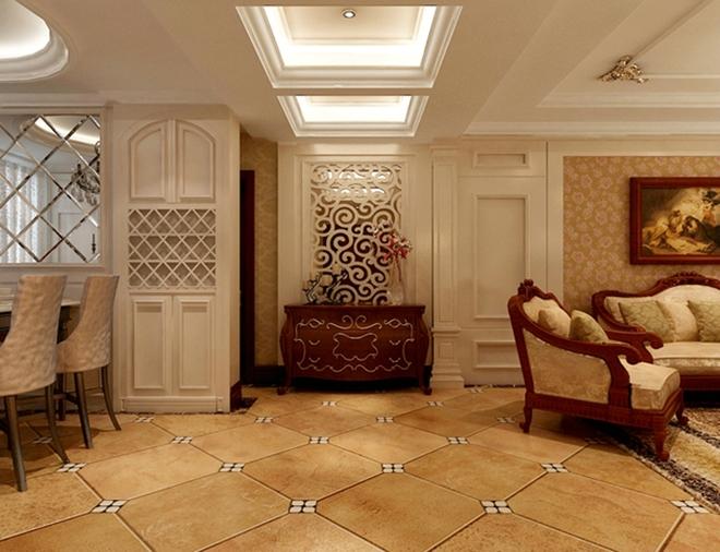 本方案为三室两厅的户型,风格定向为浅欧奢华风格。 本户型特点是空间面积较大,经过设计师的精心设计很好的划分了格局。本户型遵循业主要求装成欧式,高档时尚。客厅的电视墙采用白色护墙板,两边对称的石膏线柱头造型,巧妙隐藏了卧室门。沙发墙则与电视墙相对。餐厅的墙面护墙板凹凸造型,中间镶车边境,整体搭配给人高贵奢华,很符合业主的品味。 本案无论从色调还是功能,及后期配饰上都做了精心的安排,使整个空间尽显奢华白欧,非常符合高品质人们的需求。