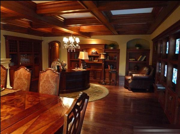 奢华美式大气复古三居室装修效果图