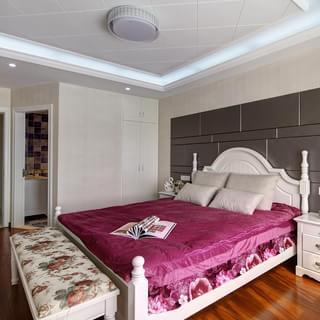 蓝色意境――130�O欧式风格三室两厅