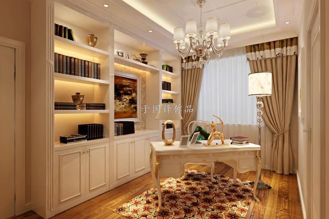 客厅背景墙:欧式田园简约客厅 设计理念: 大麦黄色的整体墙面加上蓝灰色的沙发背景,古朴的地砖,让灵动的空间充满了自然气息。 卧室:充满幻觉的卧室 设计理念:主卧作为业主的私密休息空间,已不需要过多的装饰,大面积的麦黄色搭配床头的灰绿色,地面的仿古地砖点缀角花的铺装,给宁静的卧室带来的欢快的色彩。