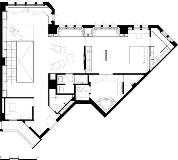 简约明静的美式300平米loft设计装修效果图