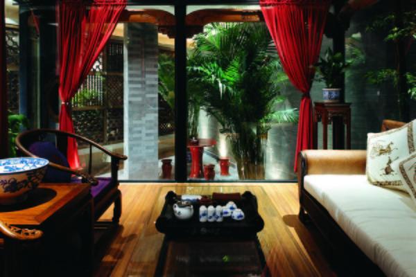老舍茶馆·四合茶院  中式园林设计装修效果图