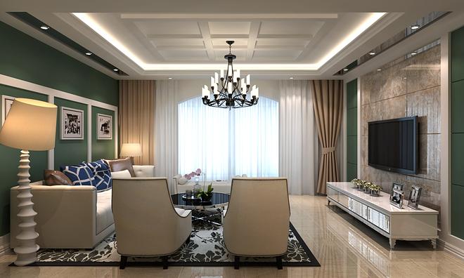 墙面实木线条的造型达到华贵的装饰效果