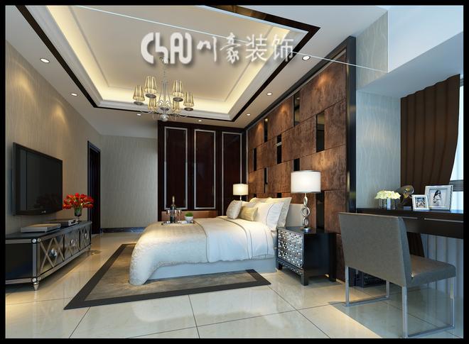 半岛旺角现代欧式风格四室两厅两卫装修案例效果图