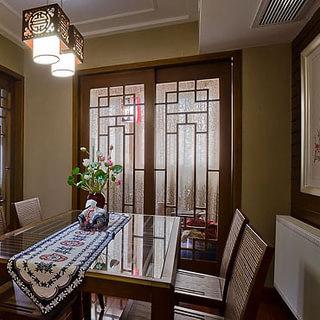 新中式风格褐色餐厅装修效果图大全2015图片-搜狐家居图片