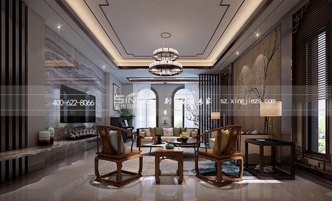 别墅装修简约中式——现代与古典的完美融合图片
