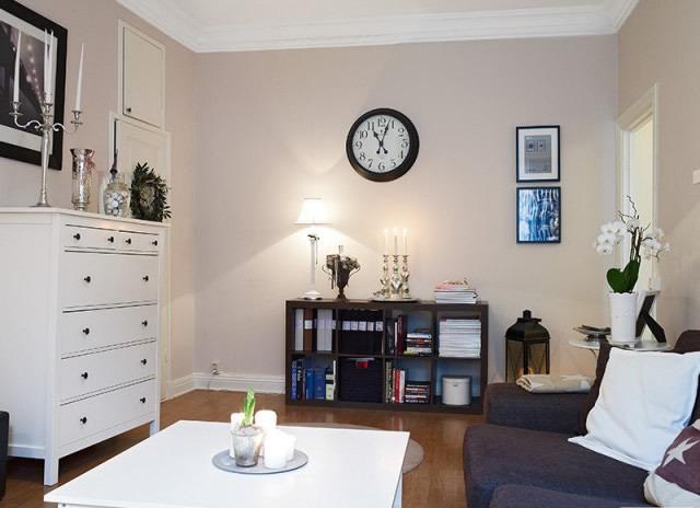 白领暖居60平米雅致一居室装修效果图2014图片;