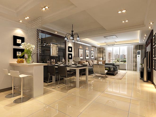 客厅电视背景墙 与沙发背景墙 也和餐厅的造型相仿 在案例中用了很多