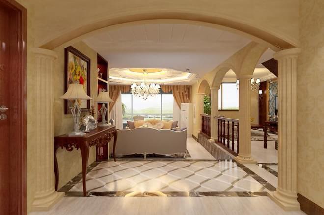 石家庄业之峰装饰-江南新城300平米别墅复式欧式风格装修效果图图片