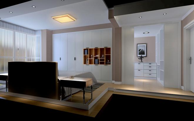 配饰:胡桃木的餐桌,米白色的沙发,木制的电视柜,完美的将时尚与古典