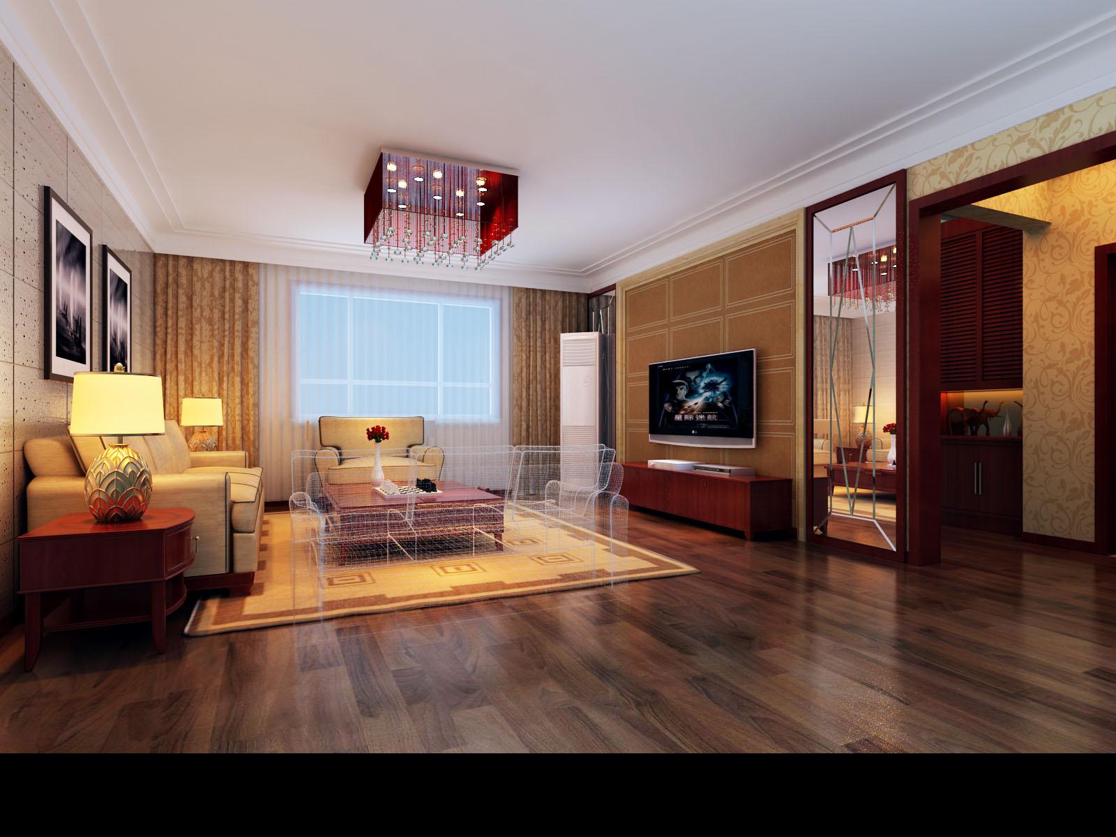 120平米三居室现代风格装修设计