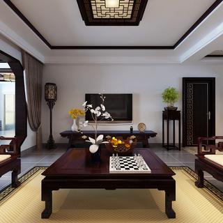 150-200平米复式中式风格客厅装修效果图大全2015图片