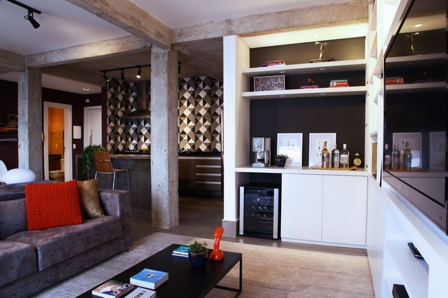 旧房子改造温馨个性小宅 含蓄实用的家装效果图图片