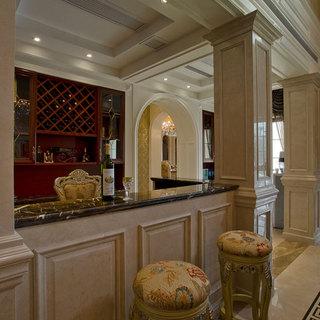200平米以上别墅欧式古典风格红色装修效果图大全2014