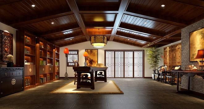 最炫民族风600㎡中式别墅装修设计【龙发装饰】