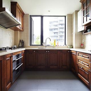100-120平米新中式风格厨房装修效果图大全2015图片