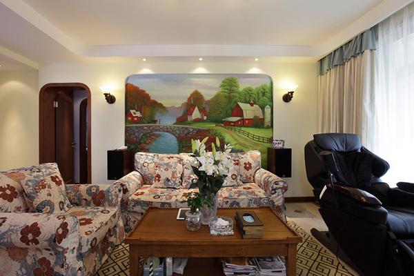 132平地中海风格三居室装修效果图