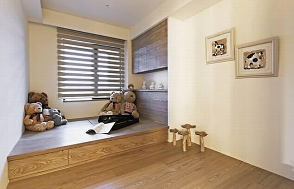 日式美式混搭风格一居室装修效果图