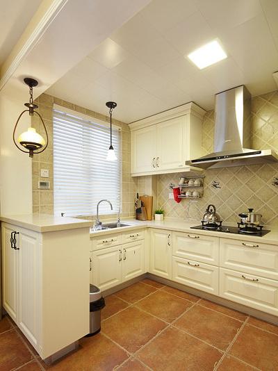 舒适温馨美式混搭风三居室装修效果图