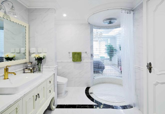 白色简约欧式风格平层大宅装修实景图,太美了