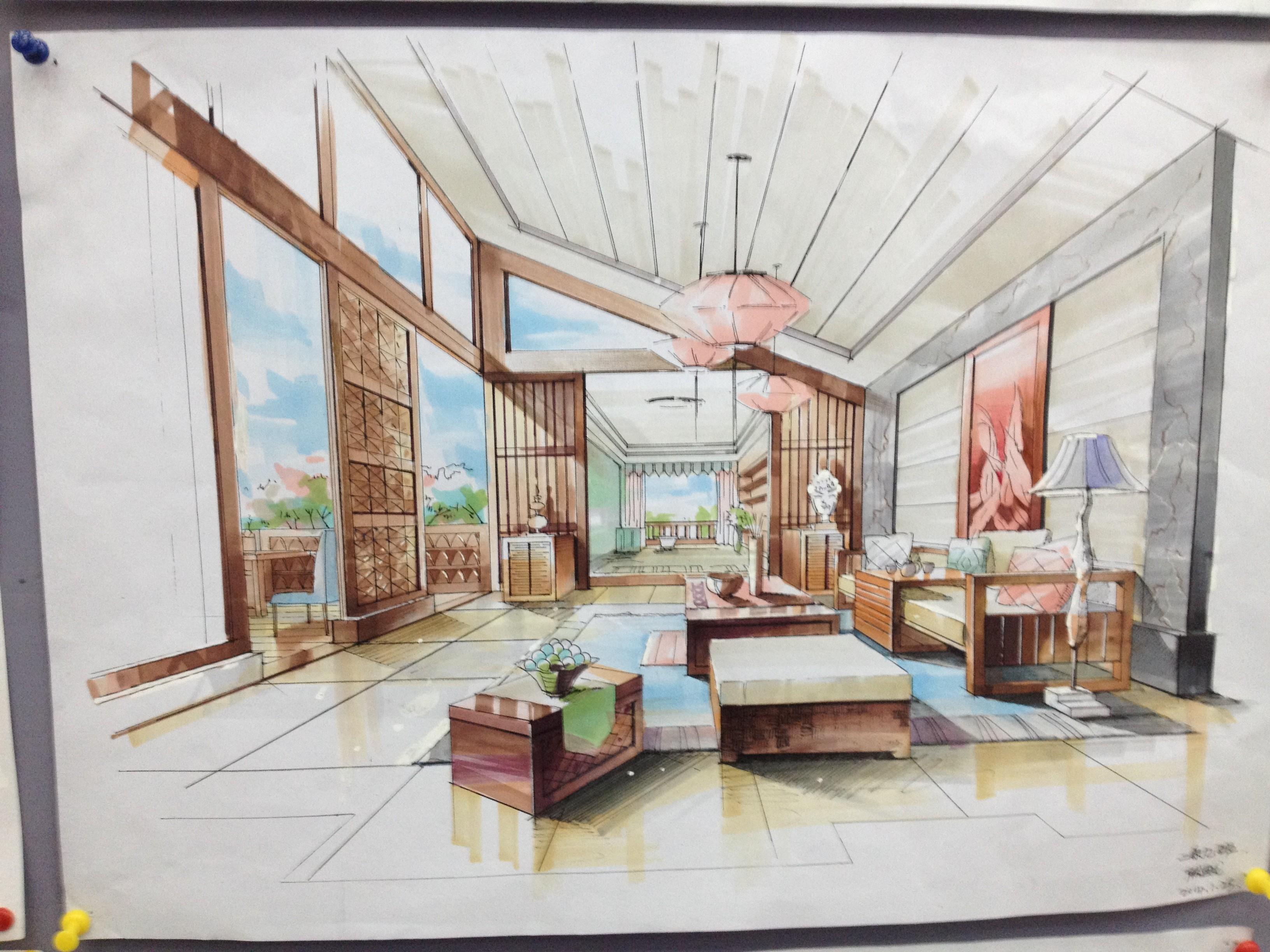 室内卧室设计图纸展示