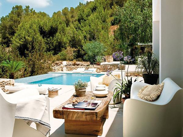 童话里的蓝色地中海悠闲度假别墅装修效果图