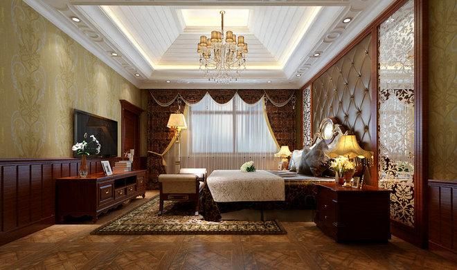 大厅运用石膏板吊顶,整体设计成弧形造型