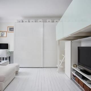 29平米的现代风迷你阁楼公寓