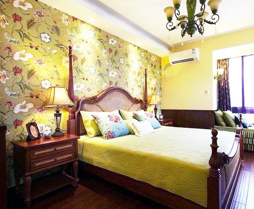 90平米复古美式乡村一居室装修效果图