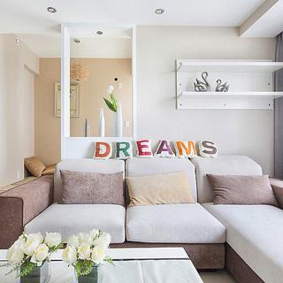 85平米小清新舒适温馨两居室