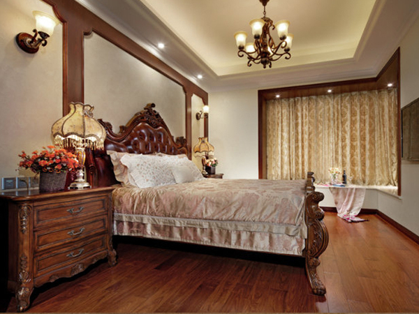 170㎡古典欧式优雅四居室装修效果图