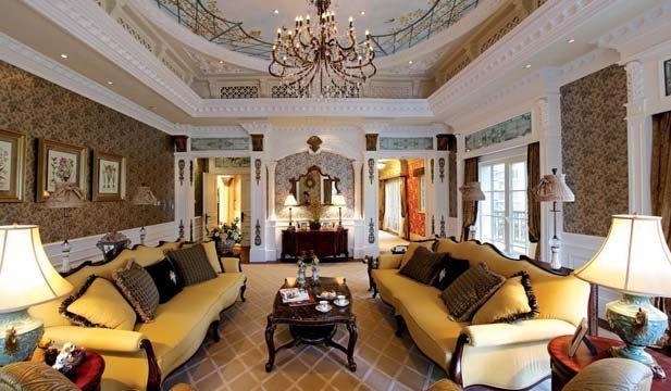 500平米别墅设计图|欧式奢华豪宅装修案例|上海别墅