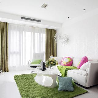 92平米低碳环保绿色三室两厅