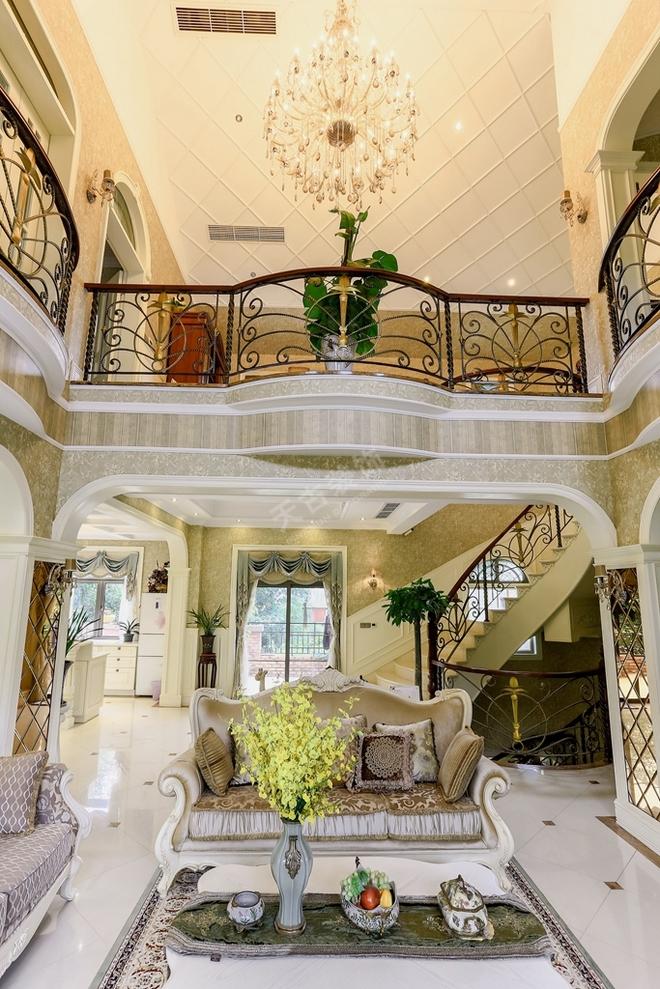 重庆法式别墅-常青藤装修案例;天古装饰梦空间别墅作品展示图片