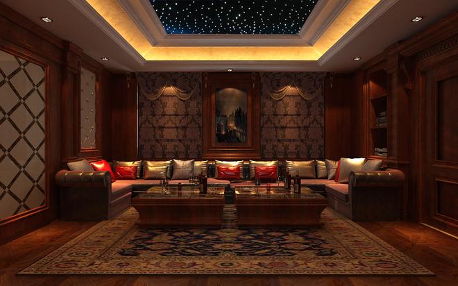 石家庄业之峰装饰-西山御园一号别墅600平米新美式装修效果图图片