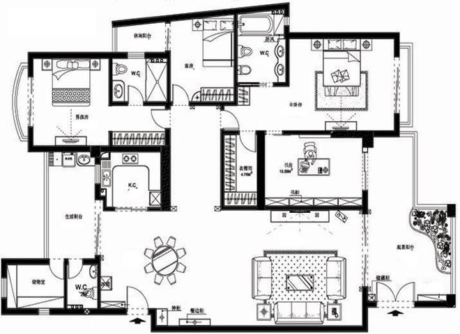 253平米金碧辉煌的欧式豪宅