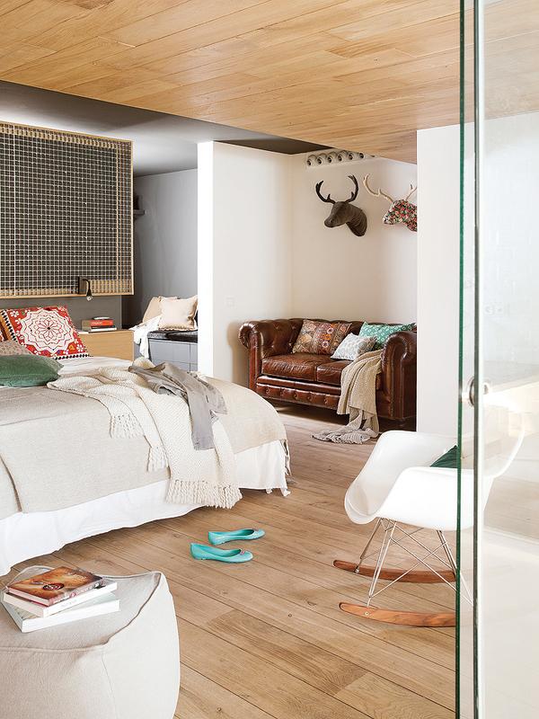 西班牙混搭工业风格Loft公寓装修效果图