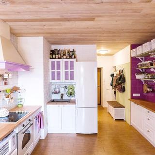 紫色浪漫的田园风情小居室