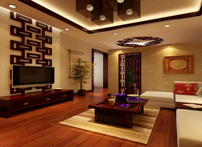 仙人洞四居简欧风格  设计理念:以古朴的红木家具为主色系的中式客厅