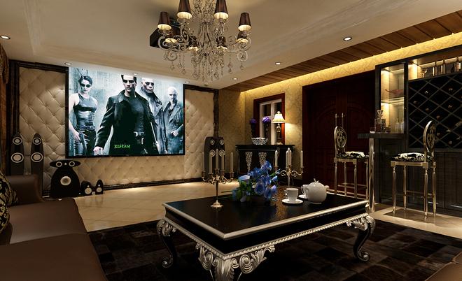 复式石材电视墙效果图