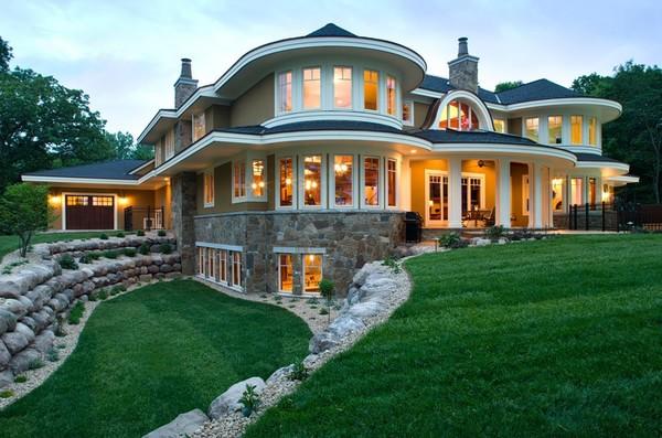 445平米的美式浪漫豪宅装修效果图