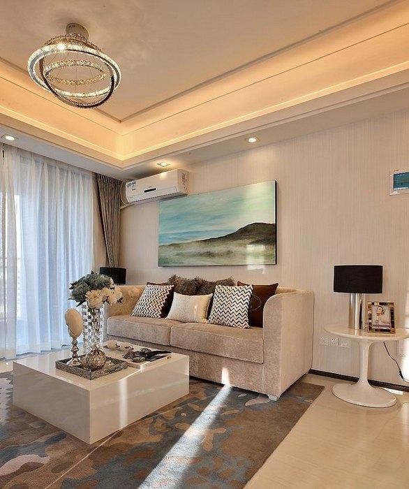 98平方婚房后现代风格三居室装修效果图 高清图片