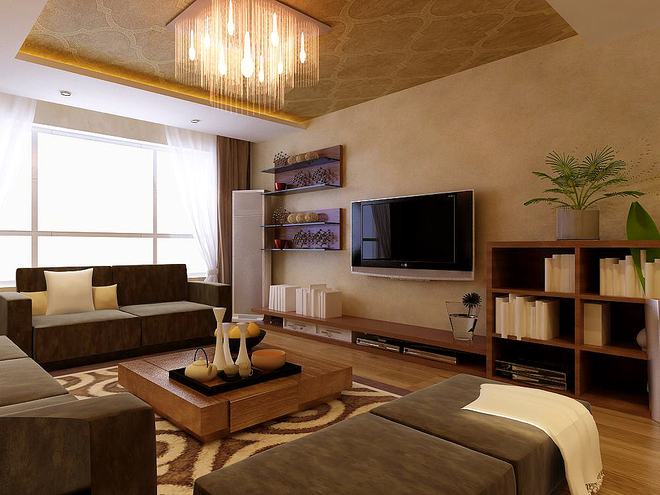 保利达江湾城现代风格装修效果图图片